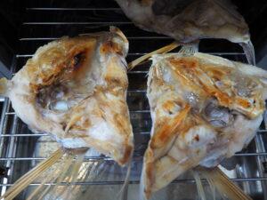 鯛アラ 焼き加減