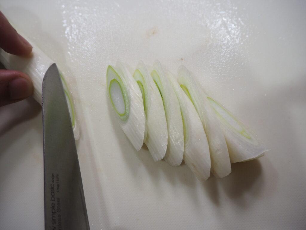 すき焼き 白葱